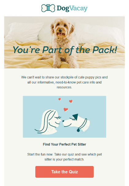example of engaging new subscribers in welcome emails