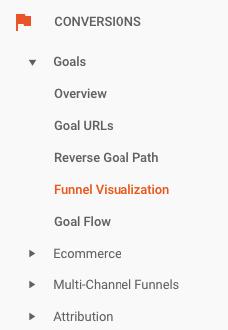 funnel visualization on google analytics