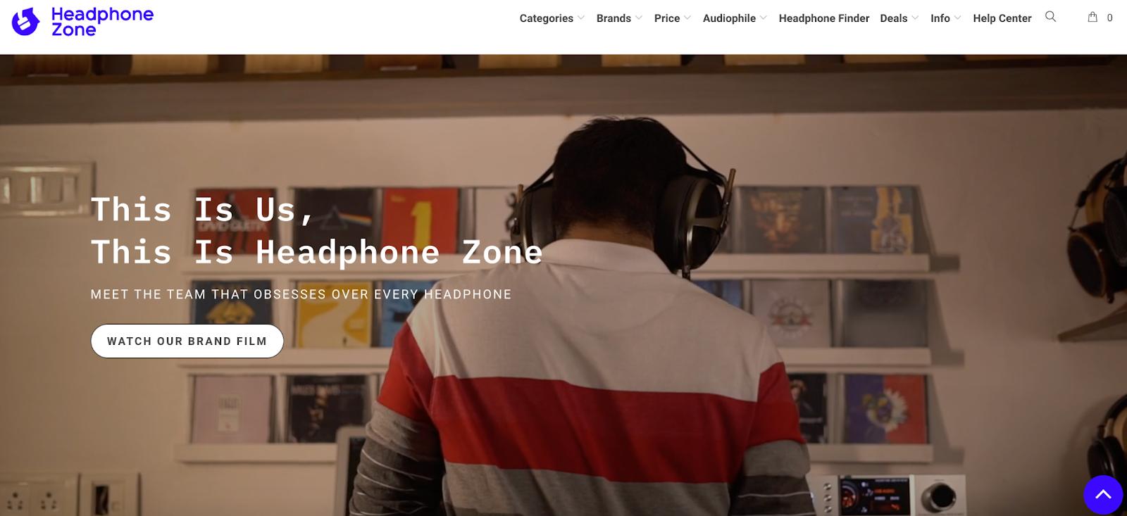 headphone zone example of product video