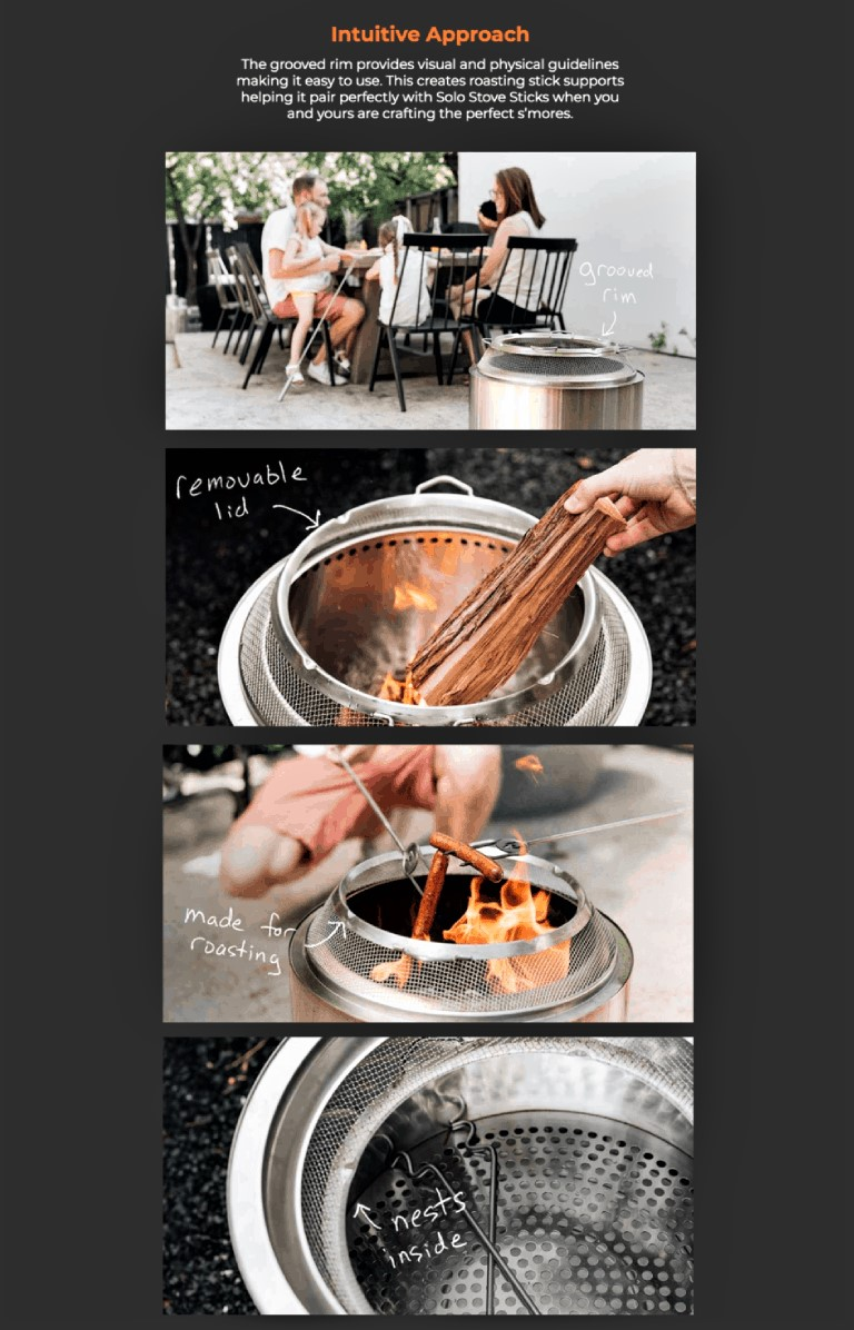 example of landing page optimization from solo stove