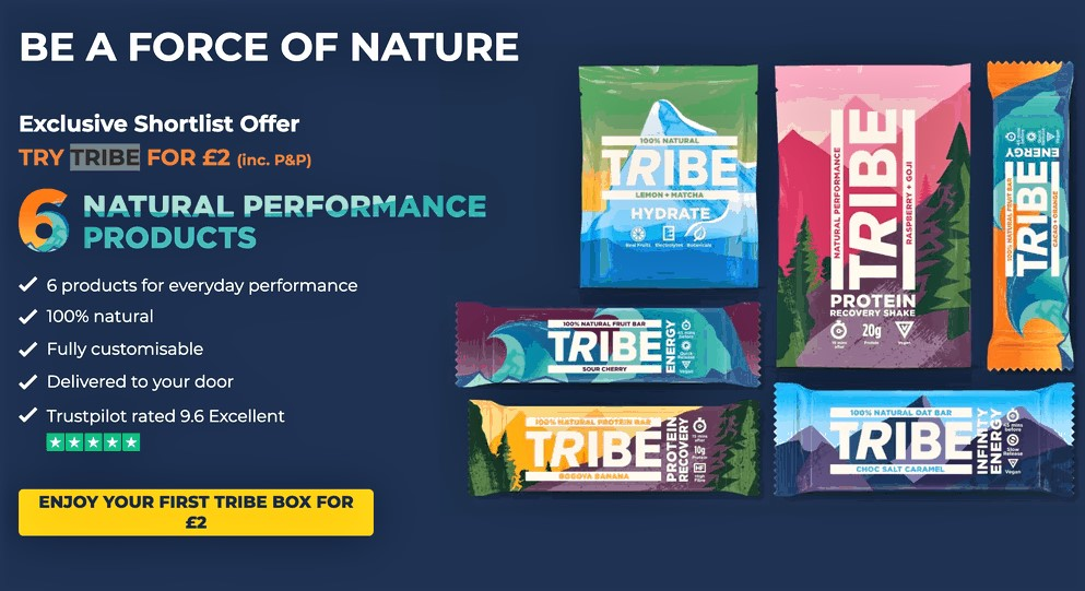 example of landing page optimization from tribe