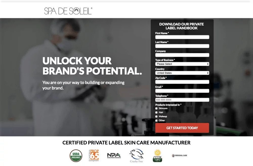 example of landing page optimization using micro conversions