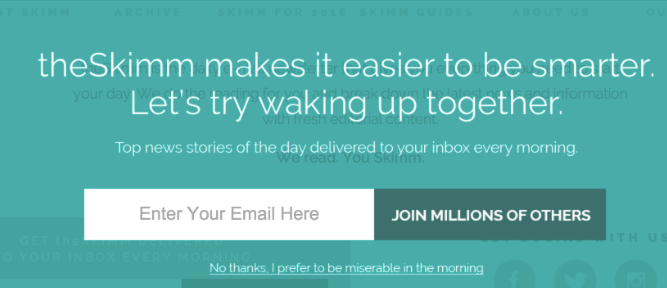 example of how Shopify email popups can use social proof in the call to action button