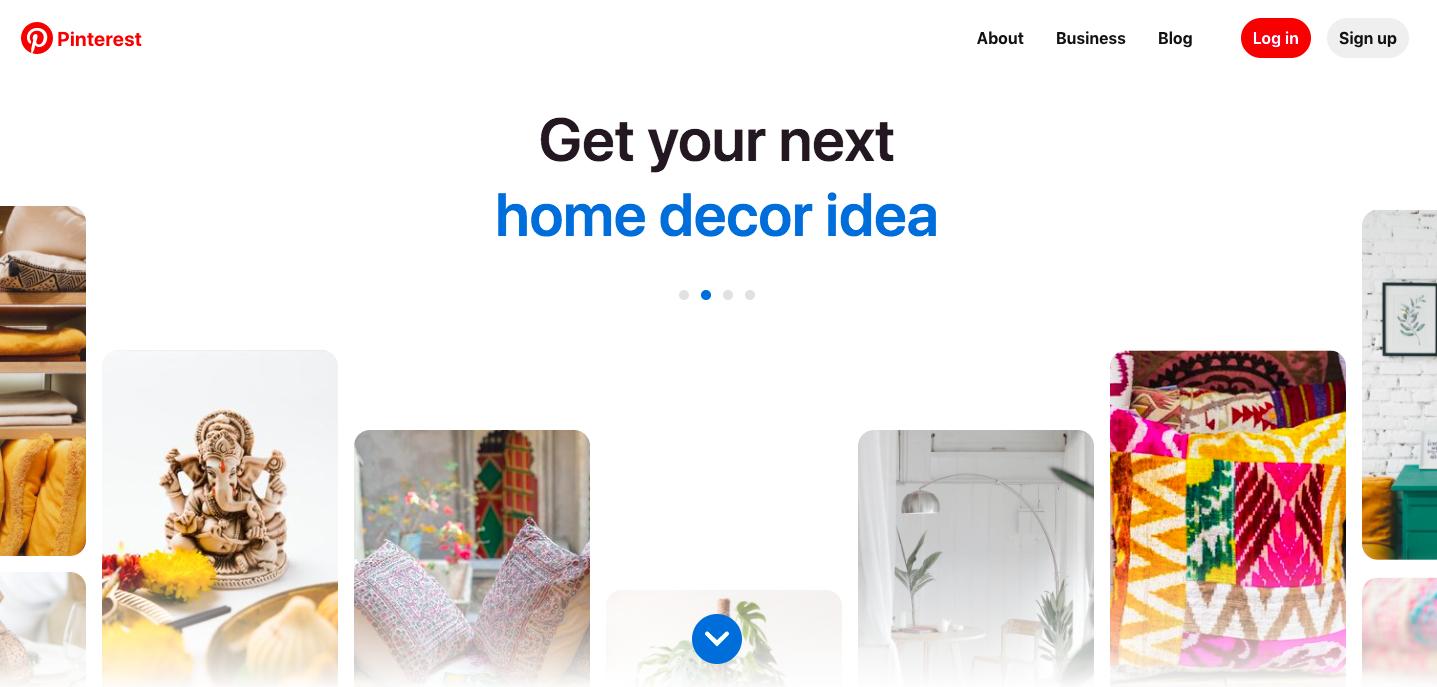 Pinterest example of home decor
