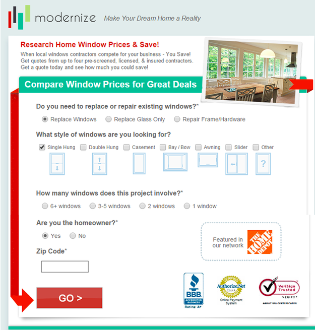 Modernize example of smarter lead generation forms