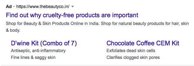 example of google ad