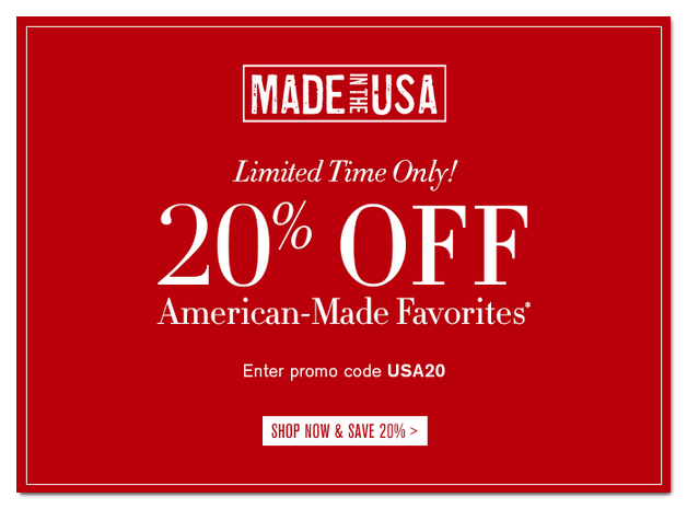 Williams Sonoma independence day email campaign