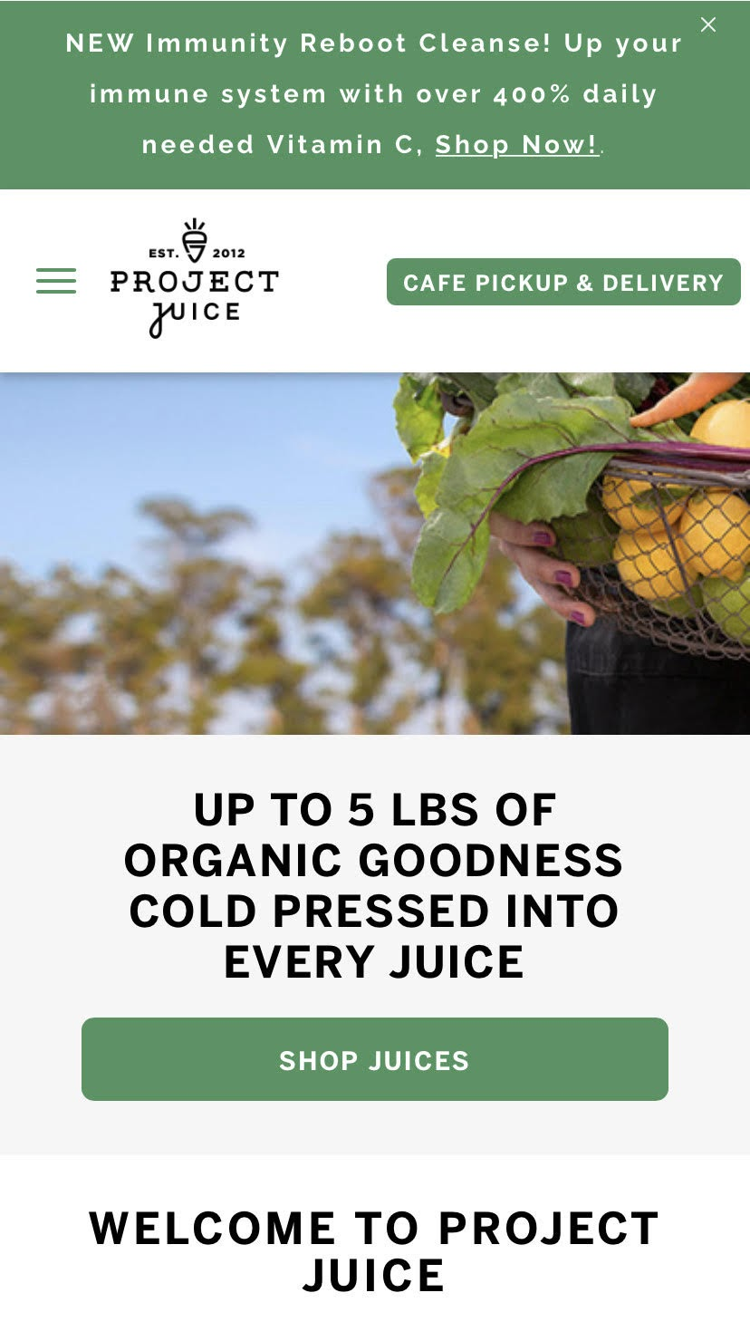 example of an offering a product benefit above the fold on a mobile product page