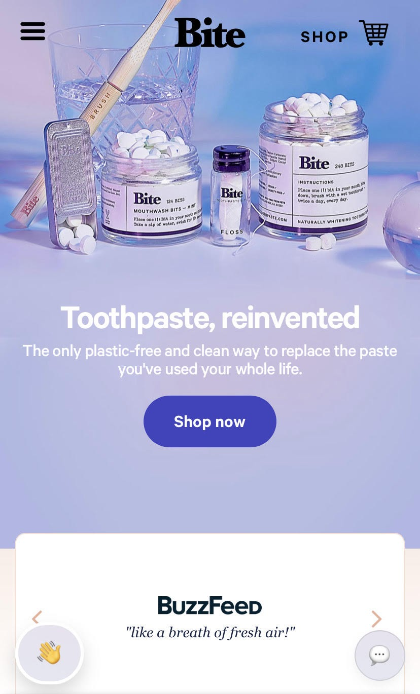 example of a search CTA in a mobile product page