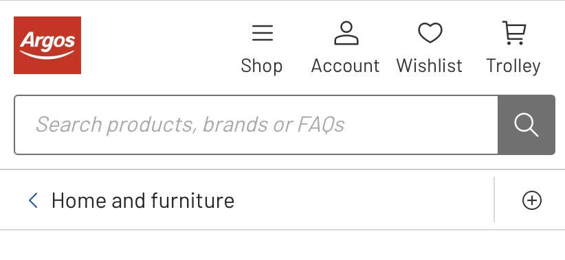 example of breadcrumbs without wrapping on a mobile product page