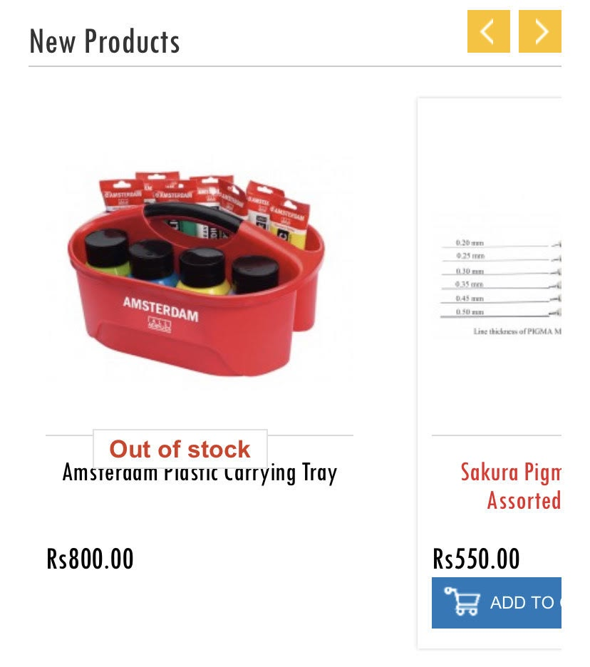 example of an out-of-stock message on mobile product pages