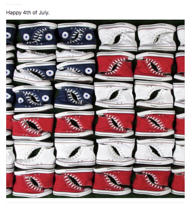 Zappos independence day email campaign