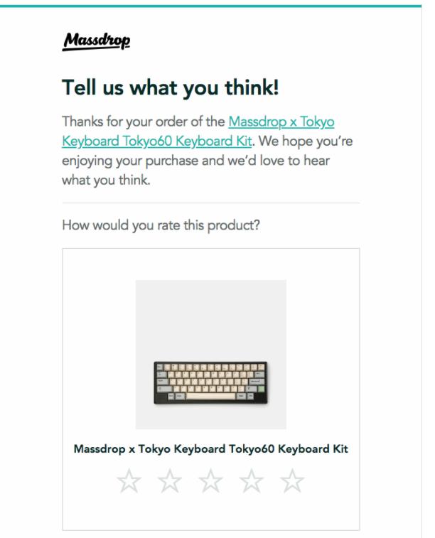 massdrop customer feedback email