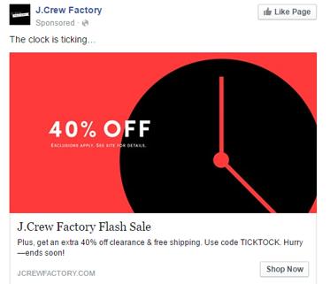 J.Crew retargeting ads