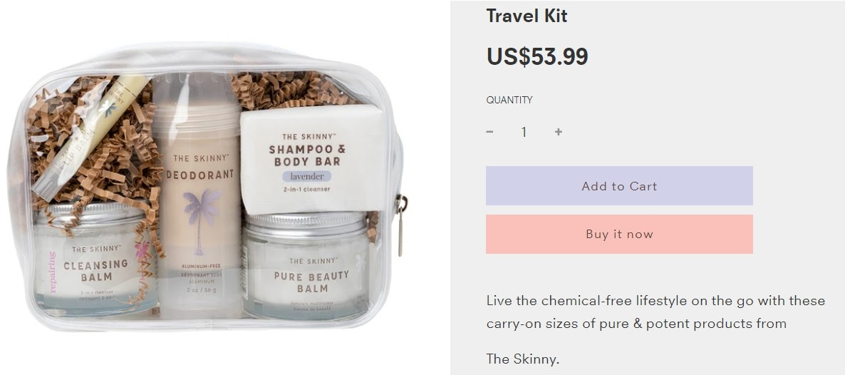 example of mixed product bundling from Skinny & Co.