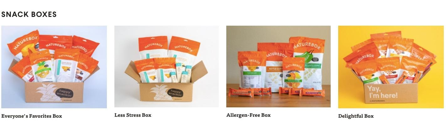 Example of subscription bundling from Nature Box