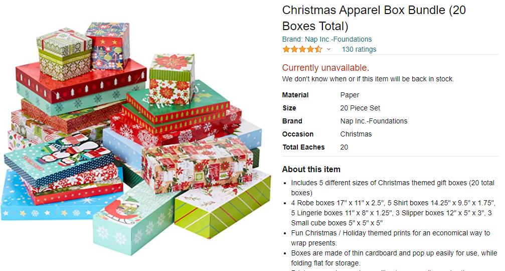 Example of seasonal bundling