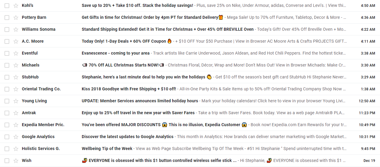 cart recovery subject lines with emojis