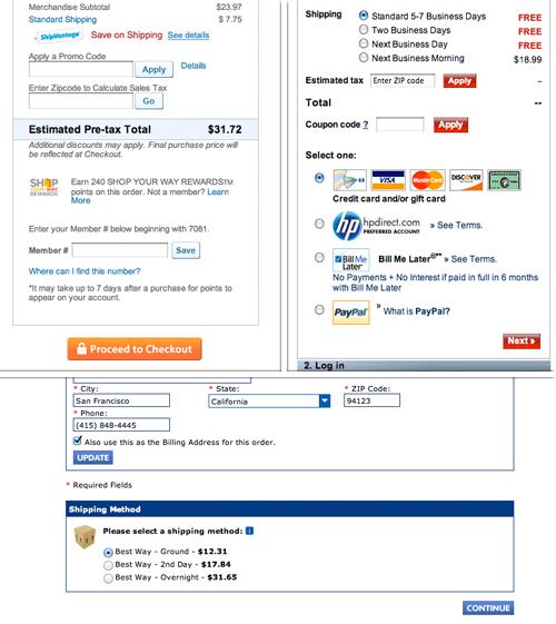 complicated checkout process