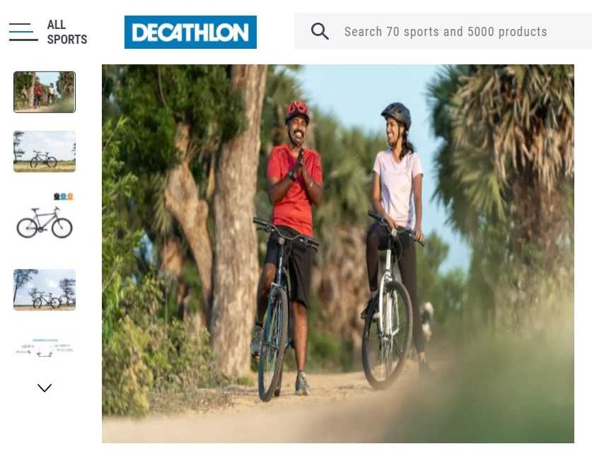 example of category page image optimization