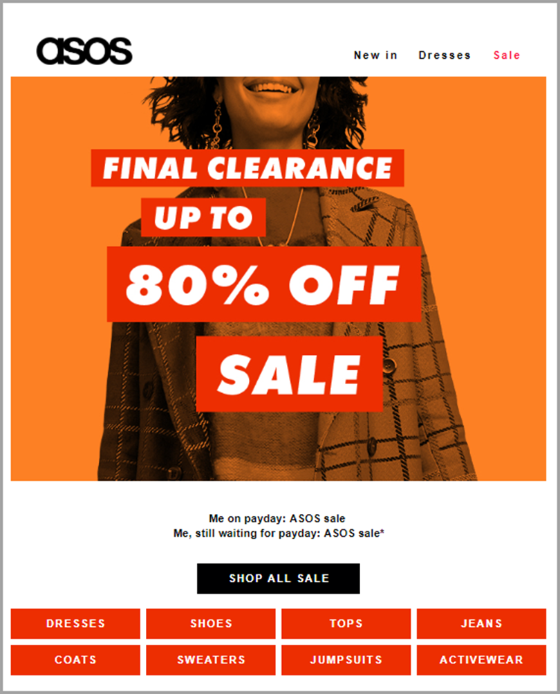 example of a clearance sale campaign
