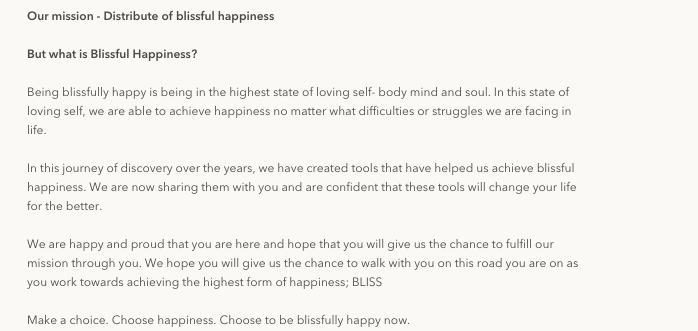 example of Beatific who talks about their mission on the About Us page