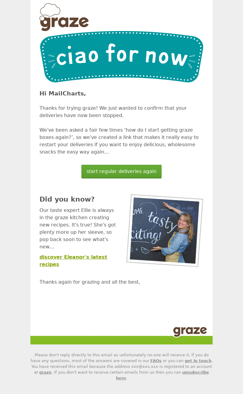 Example of using FOMO in transactional emails