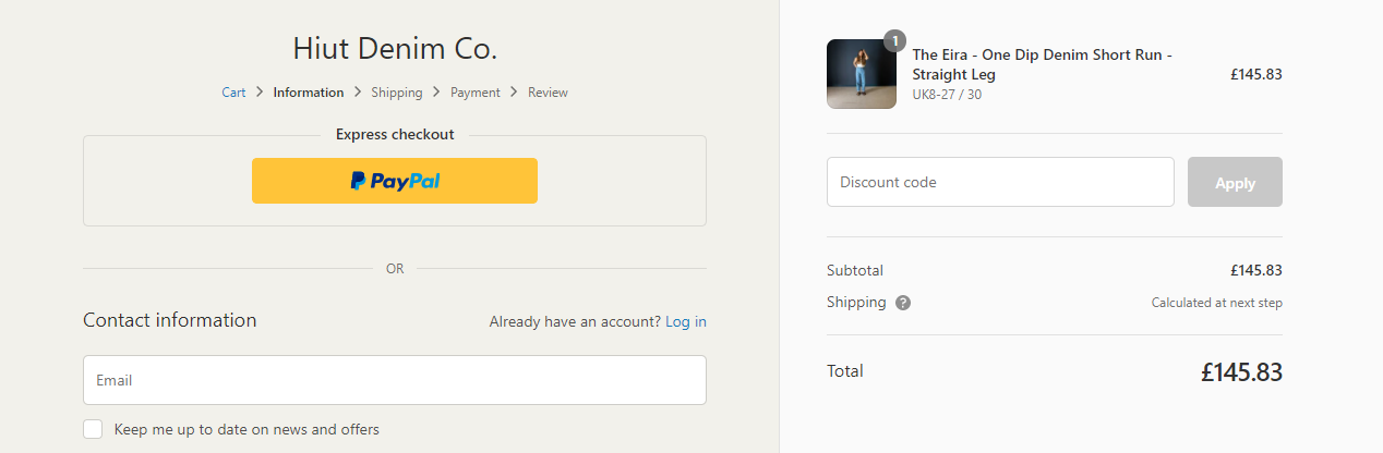 example of how form field optimization can improve ecommerce ROAS