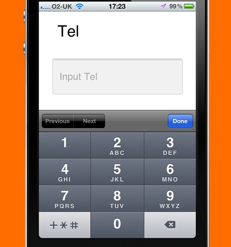 example of phone HTML input