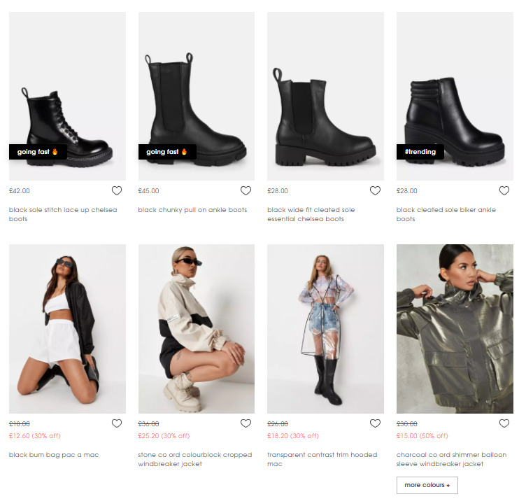 product-listing-page-example-from-missguided