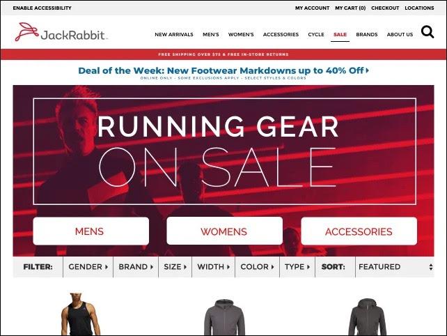 example of flash sale by JackRabbit