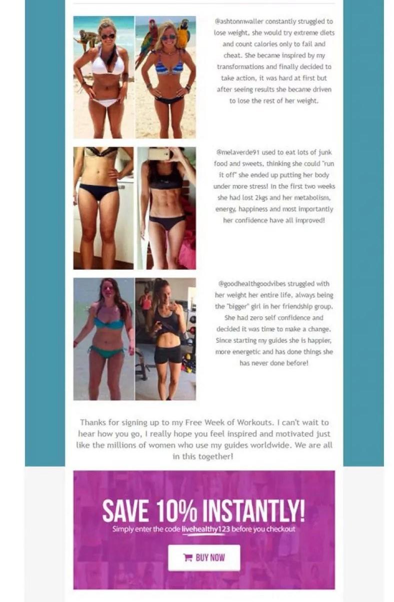 Kayla Itsiness drip email campaign 3