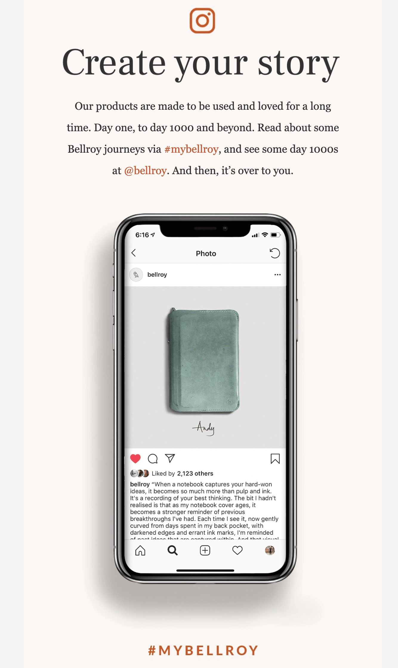 Bellroy drip email campaign 2