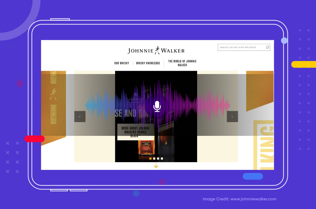 example of voice search from Johnnie Walker
