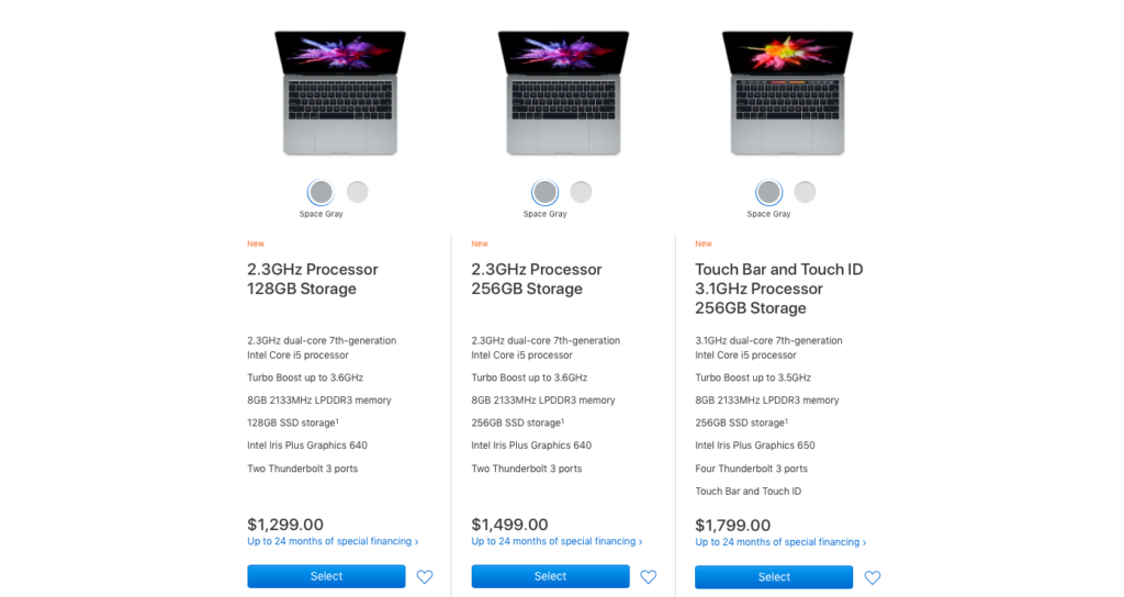 Apple uses psychological pricing