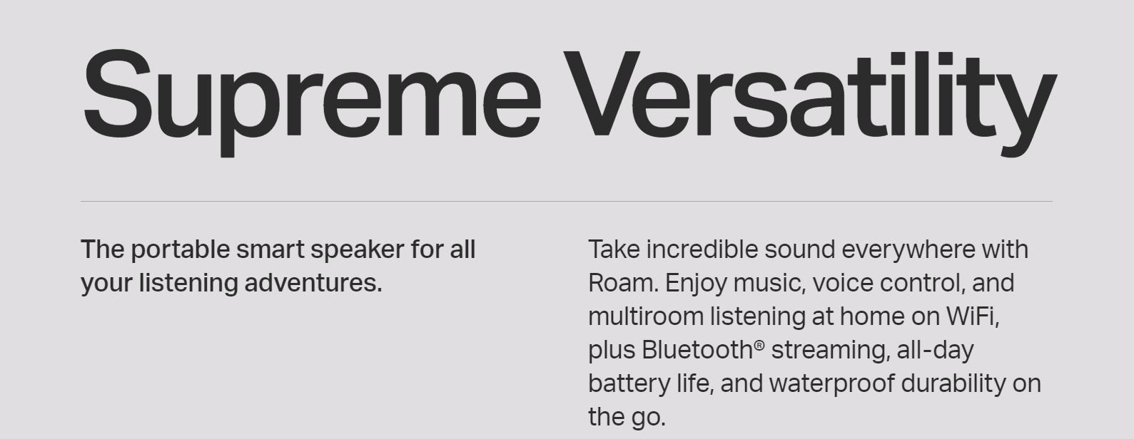 Sonos uses strategic fonts