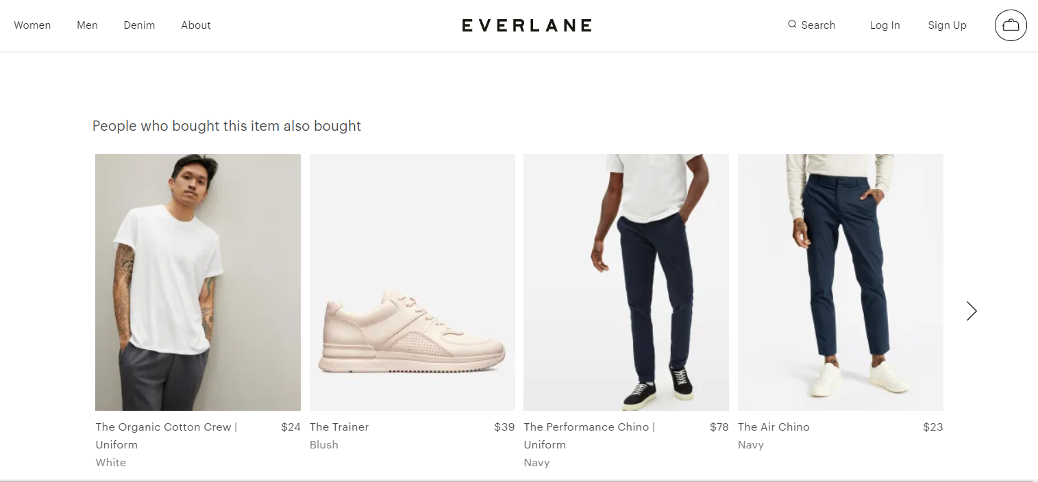 Everlane uses their product page to build trust