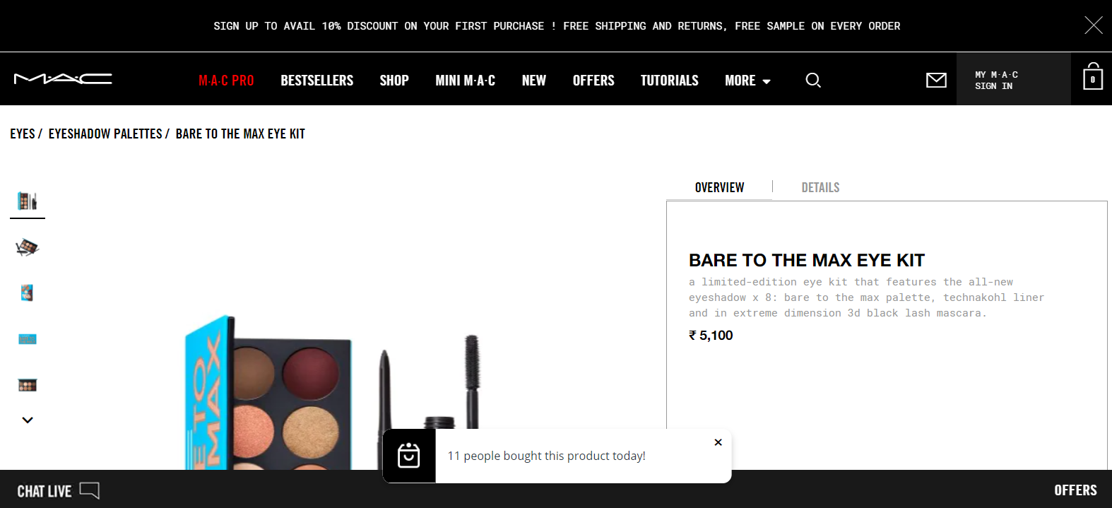 MAC Cosmetics drives product page conversions through gifting