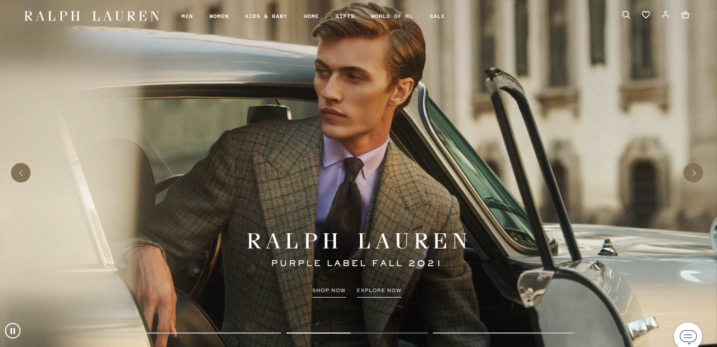 Example of improving visual clarity on carousel images by Neiman Marcus