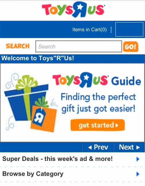 Example of readable instructions below carousels by ToysRUs