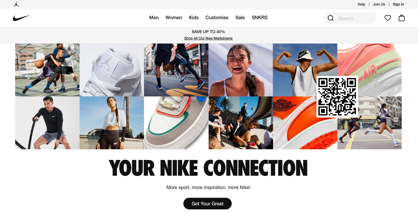 Example of using homepage for social proof as an alternative to carousel banners