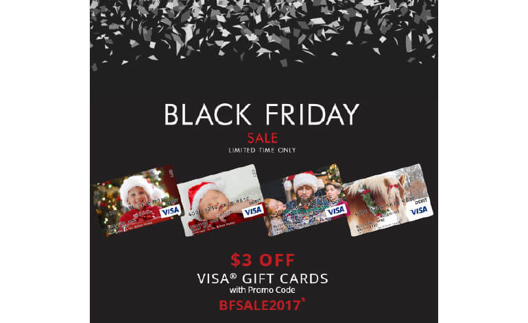 Example of gift card discounts by Visa for Black Friday