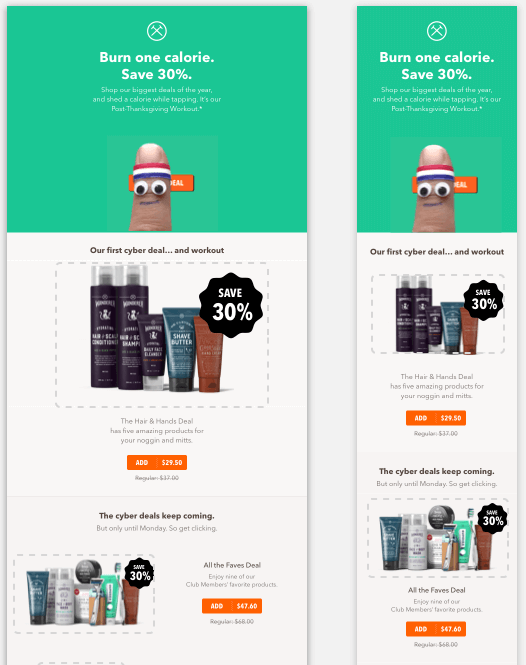 Black Friday email marketing by Dollar Shave Club