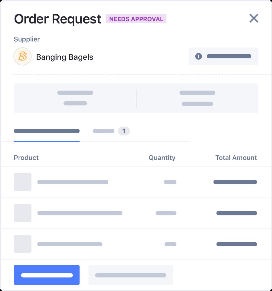 Order Request Screenshot