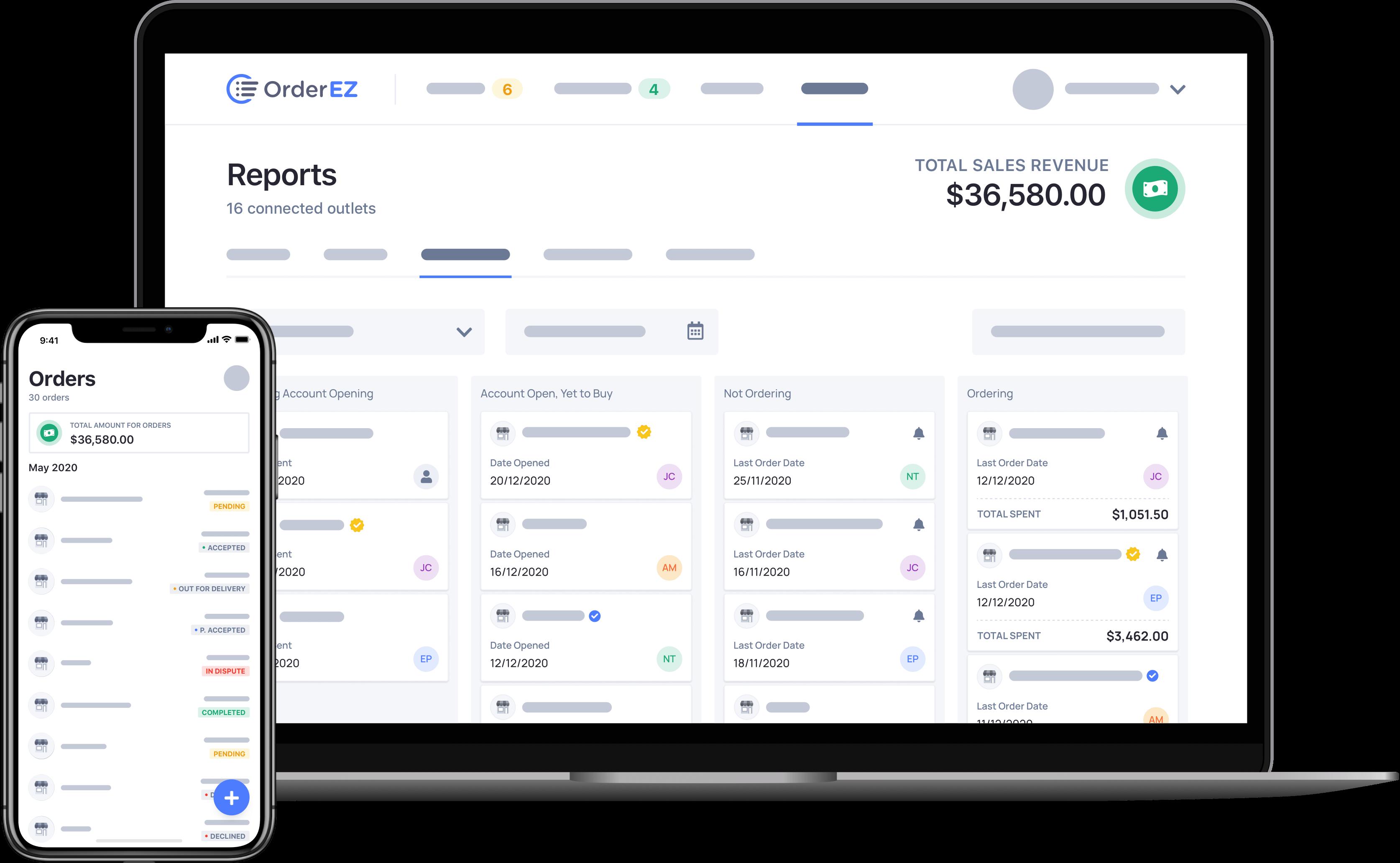 OrderEZ platform overview