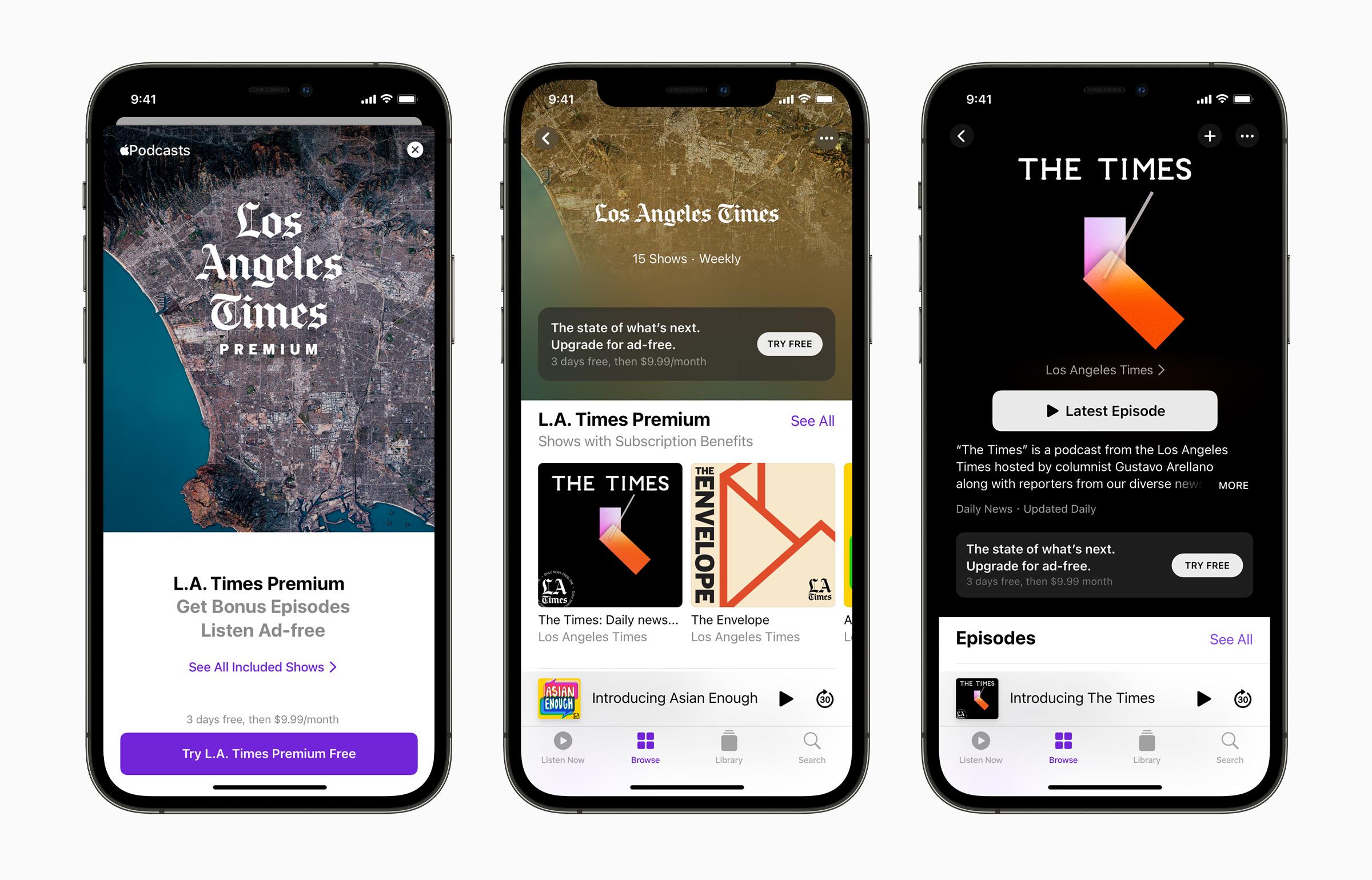 Apple Podcast subscription service media press.