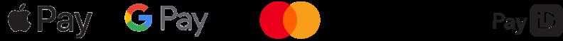 Apple Pay, Google Pay, Mastercard, Osko and PayID logo
