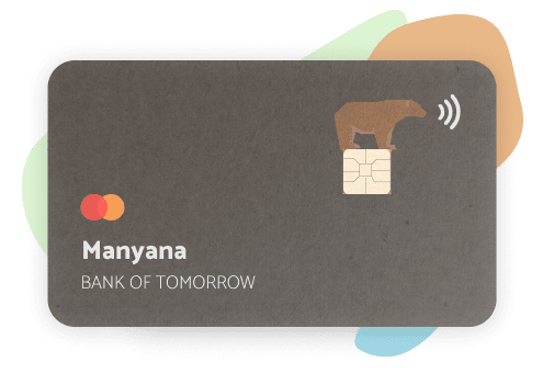 image of the debit card made with 100% recycled materials