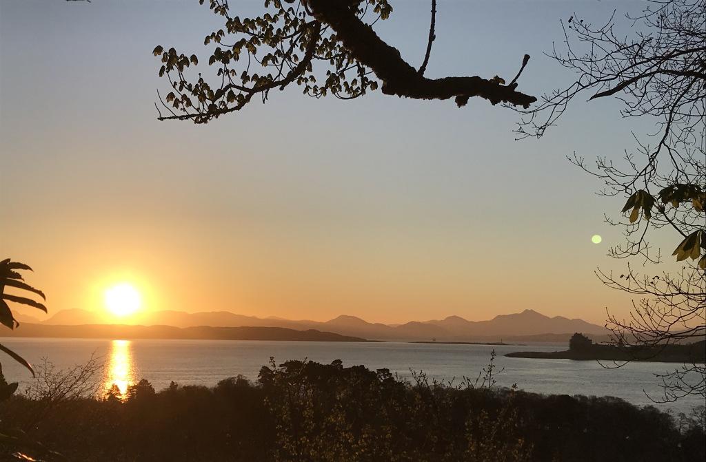 Sunrise and a glimpse of Duart castle