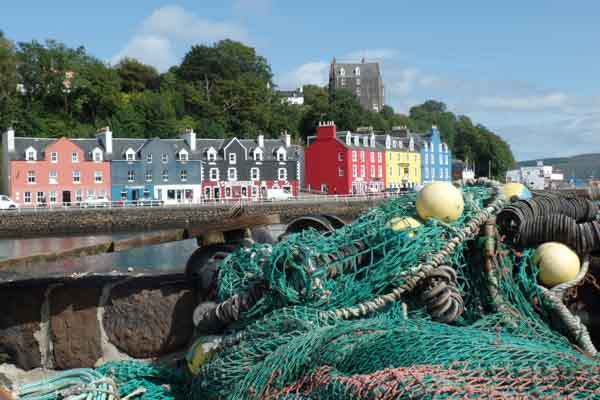 The painted houses overlooking Tobermory bay